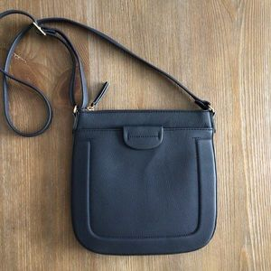 A New Day Crossbody Shoulder Bag in Navy Blue